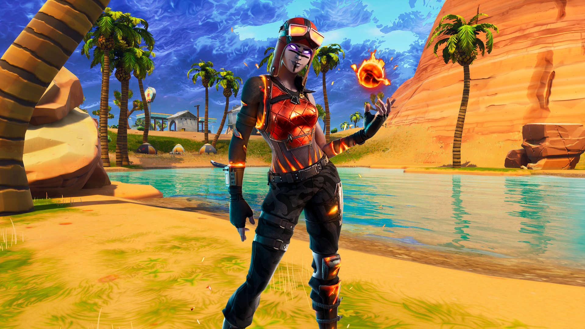Renegade Raider Is Back All Details About Blaze Skin Blaze Fortnite Wallpapers Mega Themes